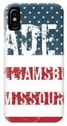 Made In Williamsburg, Missouri IPhone Case
