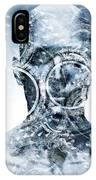 Man Face With Mechanical Cogwheel Overlay. IPhone Case