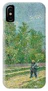 Man With Spade In A Suburb O IPhone Case