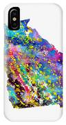 Map Of Georgia-colorful IPhone Case