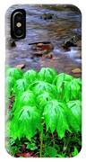 May-apples And Middle Fork Of Williams River IPhone Case