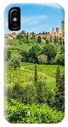 Medieval Town Of San Gimignano, Tuscany, Italy IPhone Case
