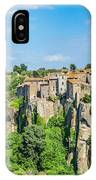 Medieval Town Of Vitorchiano In Lazio, Italy IPhone Case