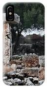 Megalithic Taula In Binisafua Menorca Bronze Age IPhone Case