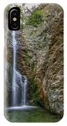 Millomeris Waterfall - Cyprus IPhone Case