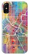 Minneapolis Minnesota City Map IPhone X Case