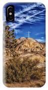 Mojave Memorial Cross And War Memorial IPhone Case