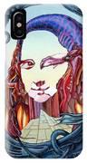 Mona Lisa. Fire IPhone Case
