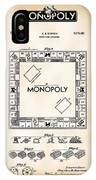 Monopoly Board Game Patent Art  1935 IPhone Case