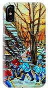 Montreal Hockey Paintings IPhone Case