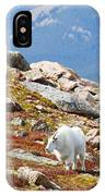 Mountain Goats On Mount Bierstadt In The Arapahoe National Fores IPhone Case