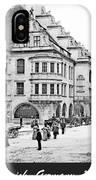 Munich, Germany, Street Scene, 1903, Vintage Photograph IPhone Case
