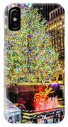 New York City Christmas Tree IPhone Case