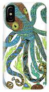 Octopus' Garden IPhone Case by Barbara McConoughey