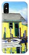 Old Crab Yellow Shacks Of Tangier Island IPhone Case