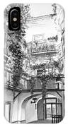 Old Viennese Courtyard IPhone Case
