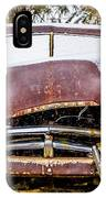 Old Vintage Plymouth Automobile In The Woods Covered In Snow IPhone Case