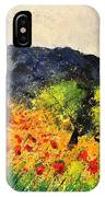 Olive Trees And Poppies  IPhone Case