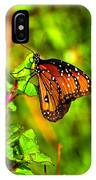 Orange Butterfly Too IPhone Case