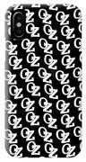 Oz Australia Black On White. IPhone Case