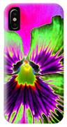 Pansy Power 82 IPhone Case