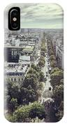 Paris Cityscape From Above, France IPhone Case