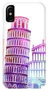 Barcelona Landmarks Watercolor Poster IPhone Case