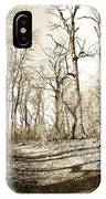Path In A Forest IPhone Case