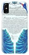 Peacocs Ketubah IPhone Case