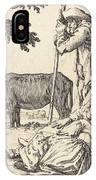 Peasant Couple With Cow IPhone Case