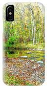 Pennsylvania Stream In Autumn, Digital Art IPhone Case