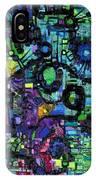 Percolation On A Lattice IPhone Case