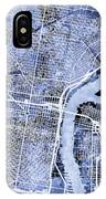 Philadelphia Pennsylvania City Street Map IPhone Case