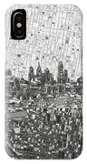 Philadelphia Skyline Map 4 IPhone Case
