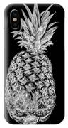 Pineapple Isolated On Black IPhone Case
