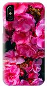 Pink Flowers Green Leaves IPhone Case