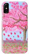 Pink Garden, Oil Painting IPhone Case