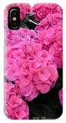 Pink Hydrangeas IPhone Case