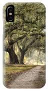 Plantation Drive Live Oaks  IPhone Case