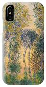 Poplars At Giverny, Sunrise IPhone Case