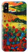 Poppies In Tuscany IPhone Case
