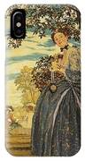 porcelain figurines on a stone shelf 1930 Konstantin Andreevich 1869-1939 Somov IPhone Case