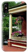 Porch With Hanging Plants IPhone Case