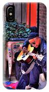 Post Alley Musician IPhone Case