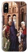 Presentation Of Christ Wga Rogier Van Der Weyden IPhone Case