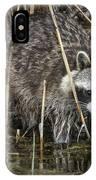 Raccoon Fishing IPhone Case