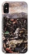 Raphael The Battle At Pons Milvius  IPhone Case