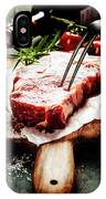 Raw Beef Steak And Wine IPhone Case