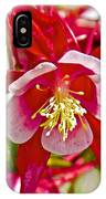 Red And White Columbine At Pilgrim Place In Claremont-california  IPhone Case
