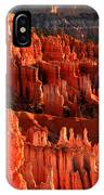 Red Glow On Hoodoos Of Bryce Canyon IPhone X Case